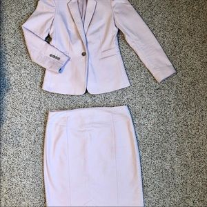 Express light pink Jacket and Skirt suit